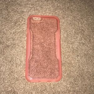 Other - New pink/clear iphone6 case+glass screen protector